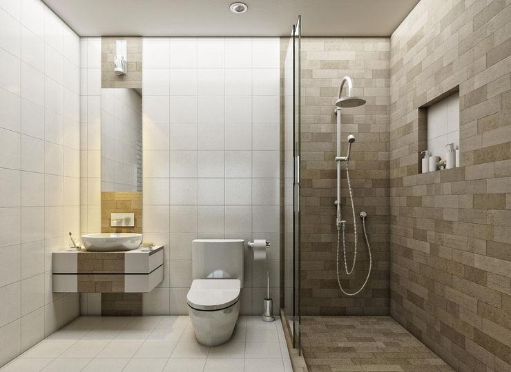 Baño LOFT ESTUDIO arquitectura y diseño Baños de estilo moderno Cerámico Blanco