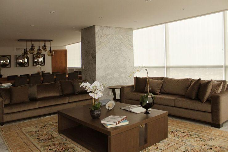 Departamento RK Concepto Taller de Arquitectura Salones modernos