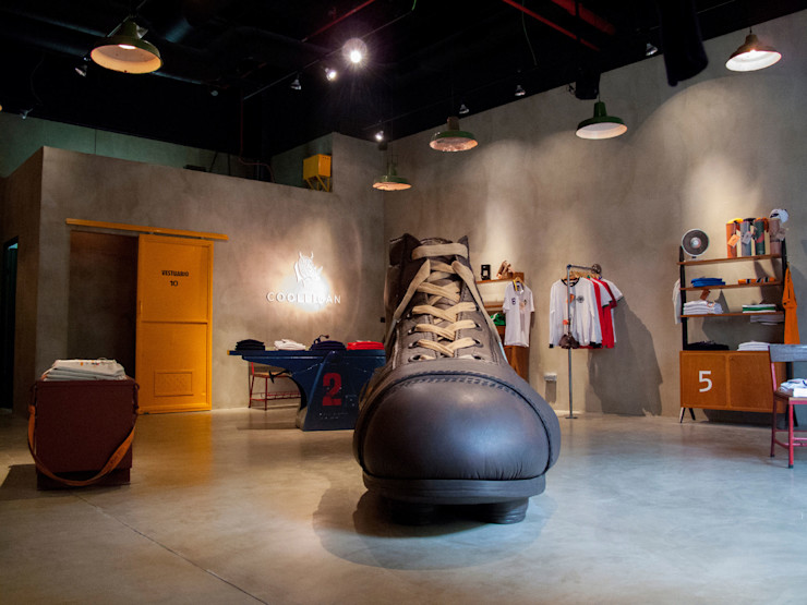 Microcemento para tiendas | Coolligan FUTURCRET Paredes y pisos de estilo industrial