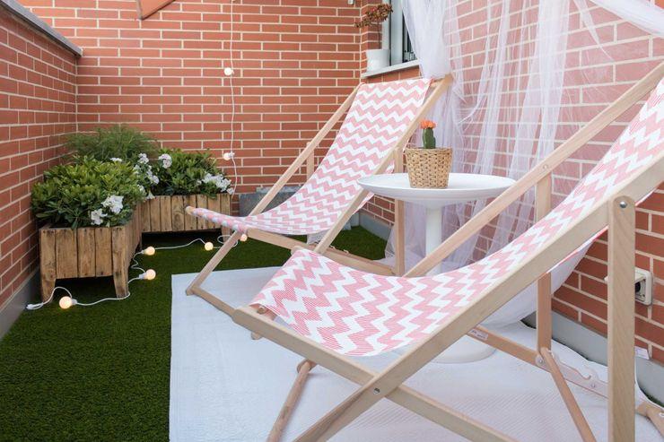 Become a Home Balcone, Veranda & Terrazza in stile scandinavo