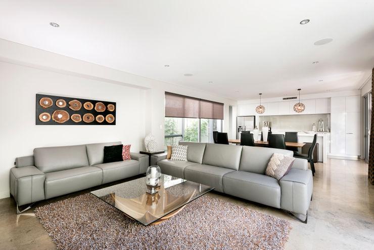 Living Room Moda Interiors Modern living room Tiles White