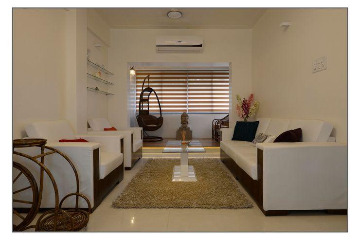 Living Room Navmiti Designs Modern living room White