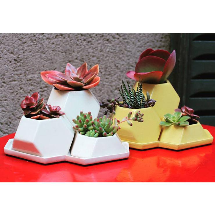 Bizcocho 家居用品植物與配件 陶器 White