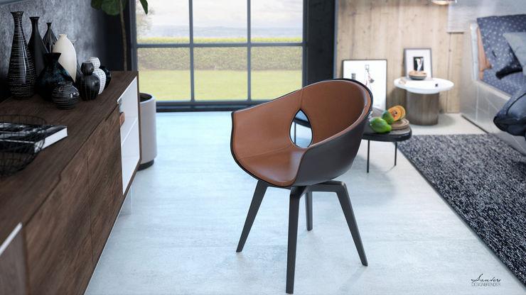 Santoro Design Render Chambre moderne Bois Effet bois