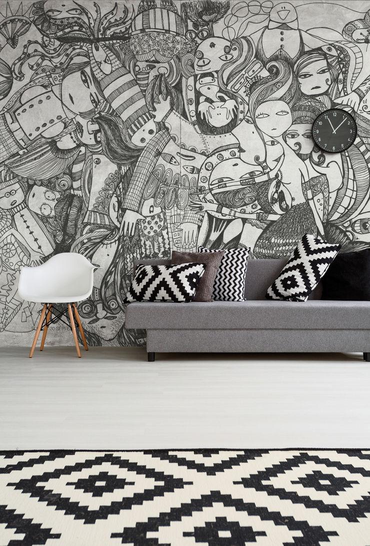 BandIt Design Modern Walls and Floors Black