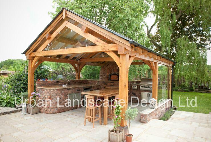 Outdoor Kitchen & Oak Building Urban Landscape Design Ltd Taman Gaya Country