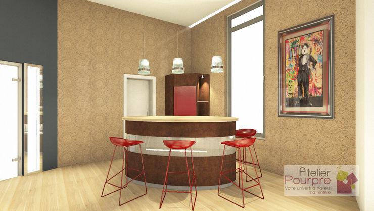 Comptoir bar Elipsoïde 3D Atelier Pourpre Design & Décoration SPRL