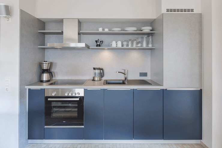 Homemate GmbH Country style kitchen Wood Blue