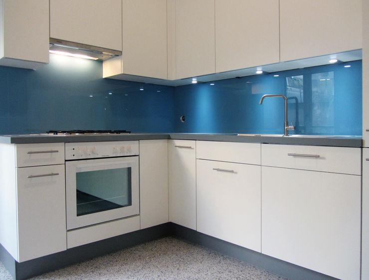 mmarch gmbh - Mader Marti Architektur ETH SIA Kitchen Glass Blue