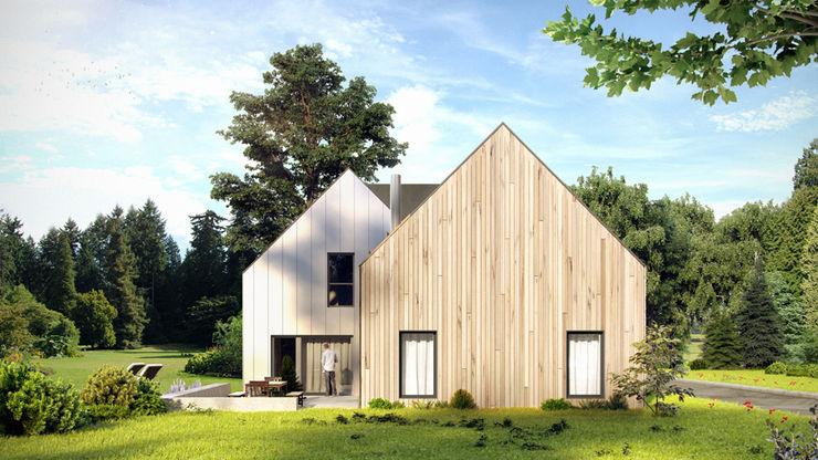 Majchrzak Pracownia Projektowa 現代房屋設計點子、靈感 & 圖片