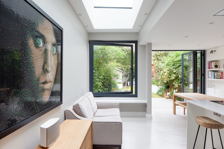pivot window TAS Architects Modern kitchen