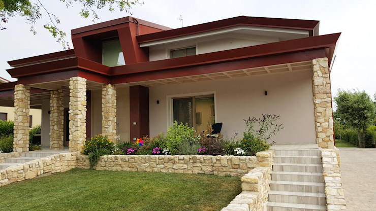 Studio Ph09 (progress house) Varanda, alpendre e terraçoPlantas e flores