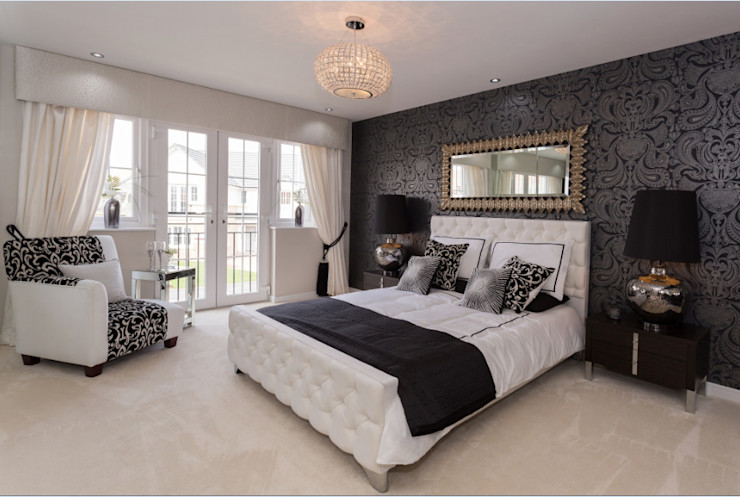 Modern Monochrome Graeme Fuller Design Ltd Classic style bedroom