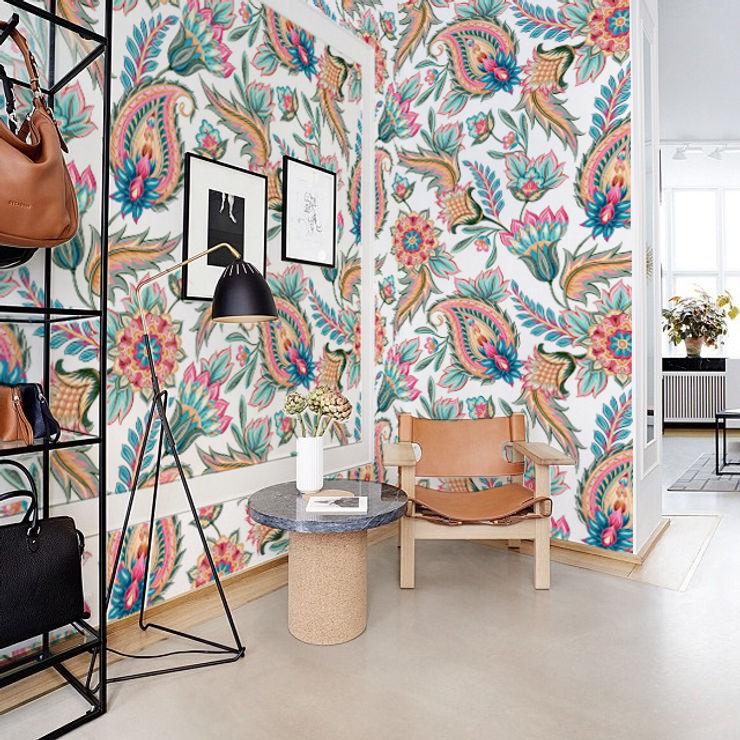 Modern Paisley Pixers Murs & Sols classiques Multicolore