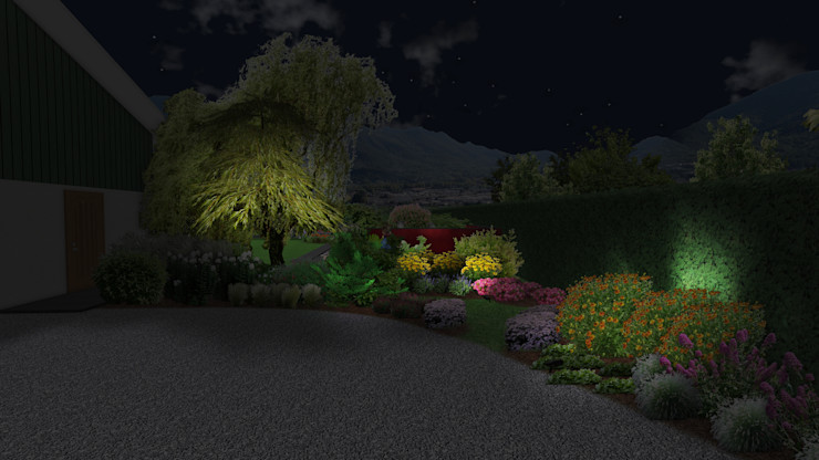 Jardin sinueux Anthemis Bureau d'Etude Paysage Jardin moderne
