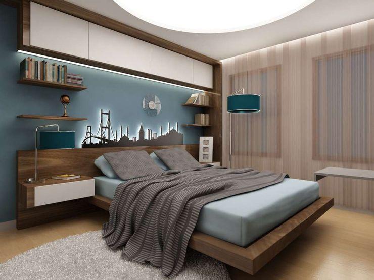 VERO CONCEPT MİMARLIK Modern Yatak Odası