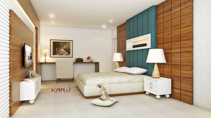 BEDROOM KARU AN ARTIST Modern style bedroom