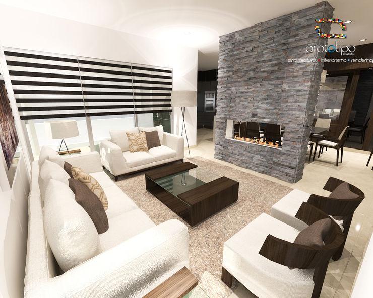 Prototipo Arquitectos Modern Living Room