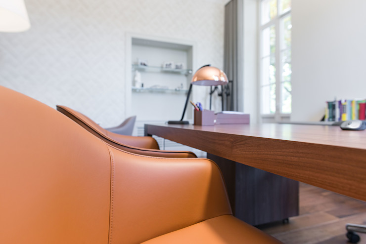 Insides Modern study/office Copper/Bronze/Brass Beige