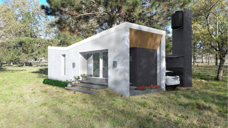 homify Modern Houses Bricks White
