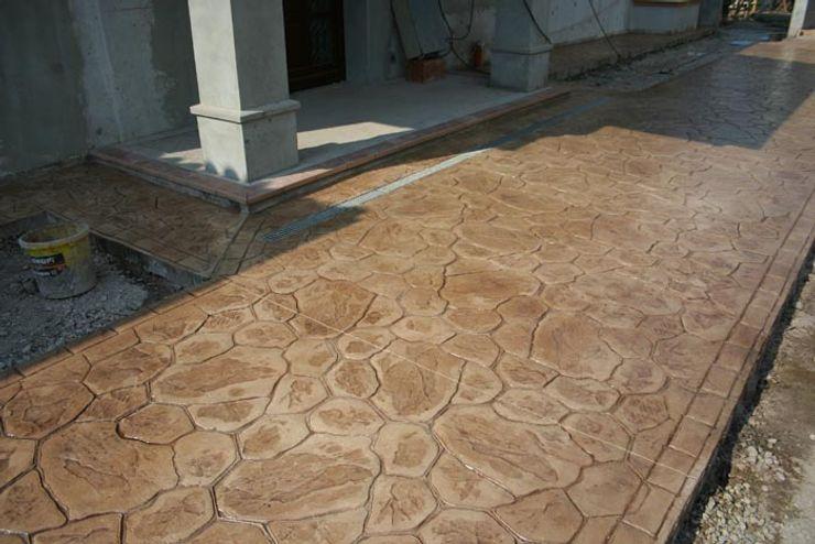 Pavimento ipreso Galistar Pavimentos Paredes y suelos de estilo rústico