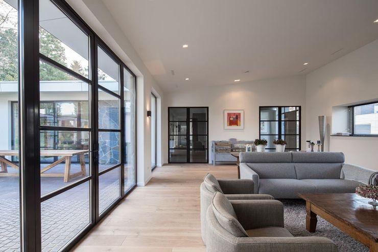 Van der Schoot Architecten bv BNA Modern living room Wood Wood effect