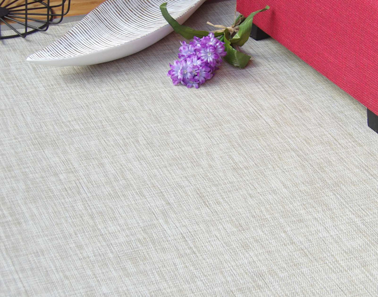 Alfombra vinílica en color arena latiendawapa Salas/RecibidoresAccesorios y decoración Sintético Beige