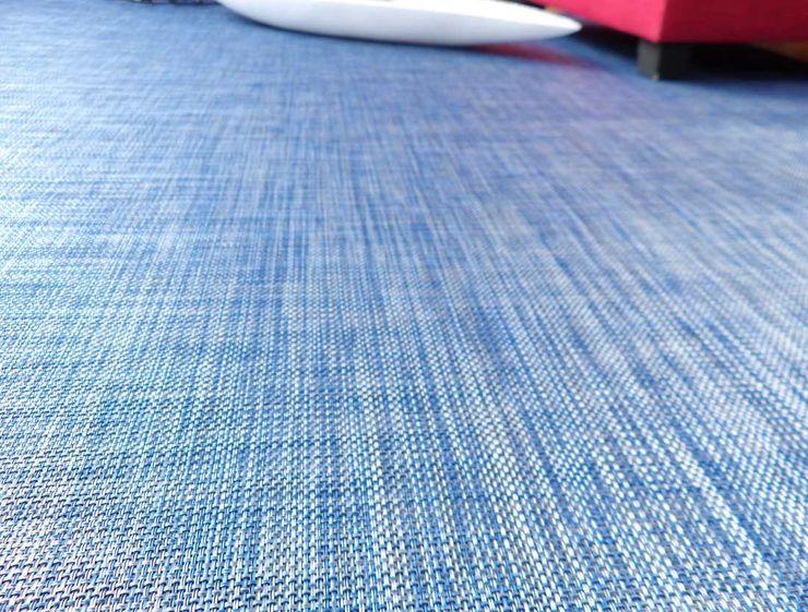 Alfombra de vinilo en color azul latiendawapa DormitoriosAccesorios y decoración Sintético Azul