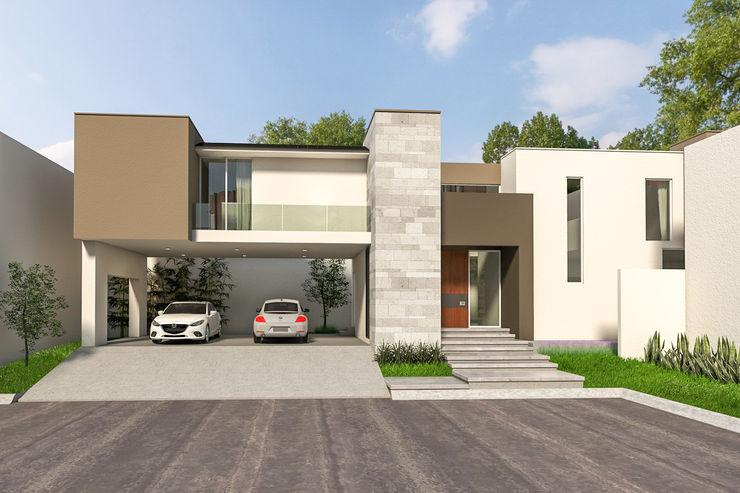 Casa Sta. Anita Indigo Arquitectos Casas minimalistas Piedra Blanco