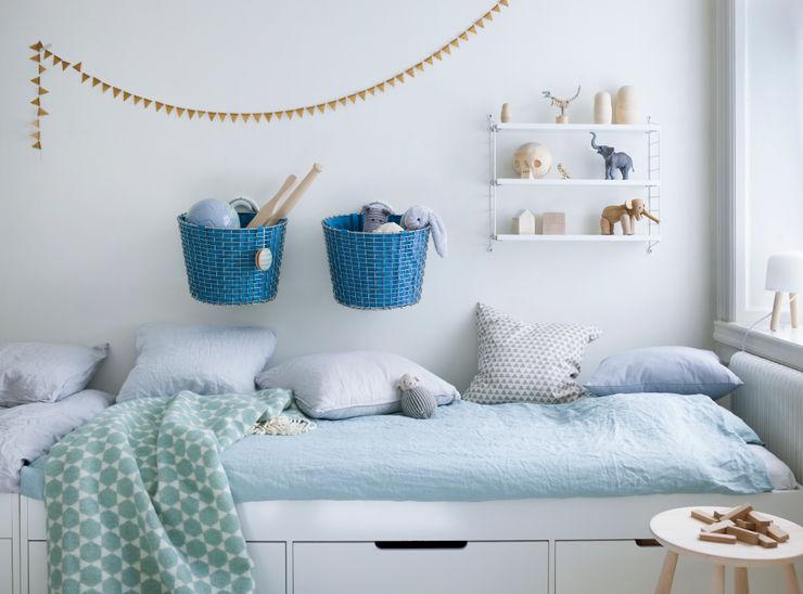 Korbo Basket Liner Bin 24 Korbo Nursery/kid's roomStorage Iron/Steel Blue