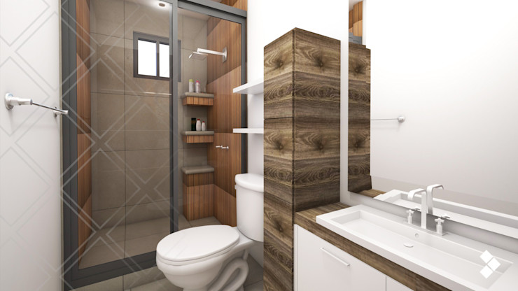 CDR CONSTRUCTORA Modern bathroom