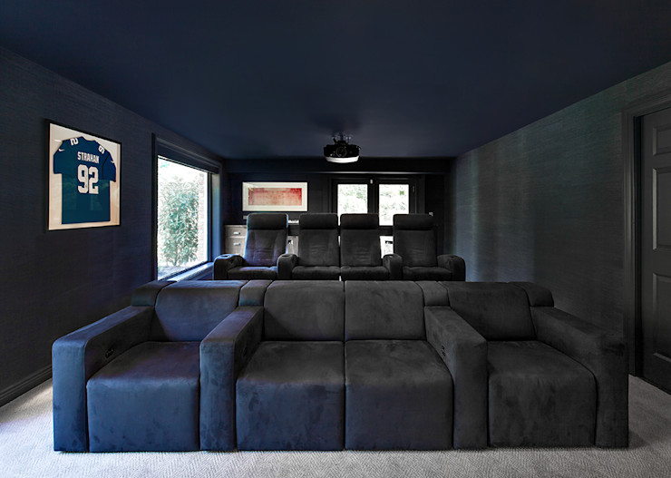 Media Room Clean Design اتاق تفریحات رسانه ای