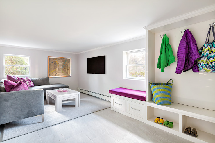 Basement Clean Design اتاق نشیمن