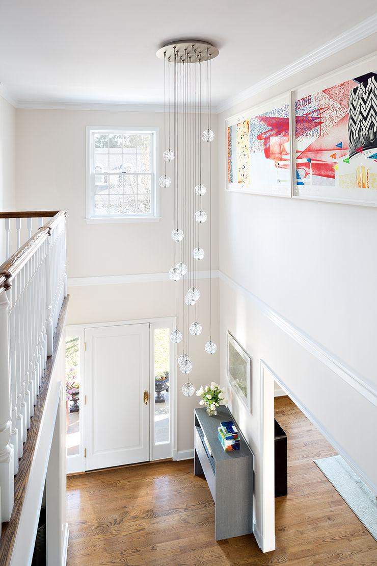 Foyer Clean Design Modern Corridor, Hallway and Staircase