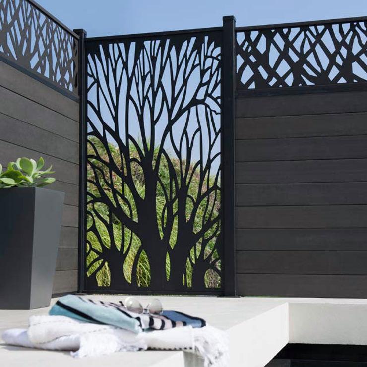 NATUREL METAL FERFORJE Jardins modernos Ferro/Aço Preto