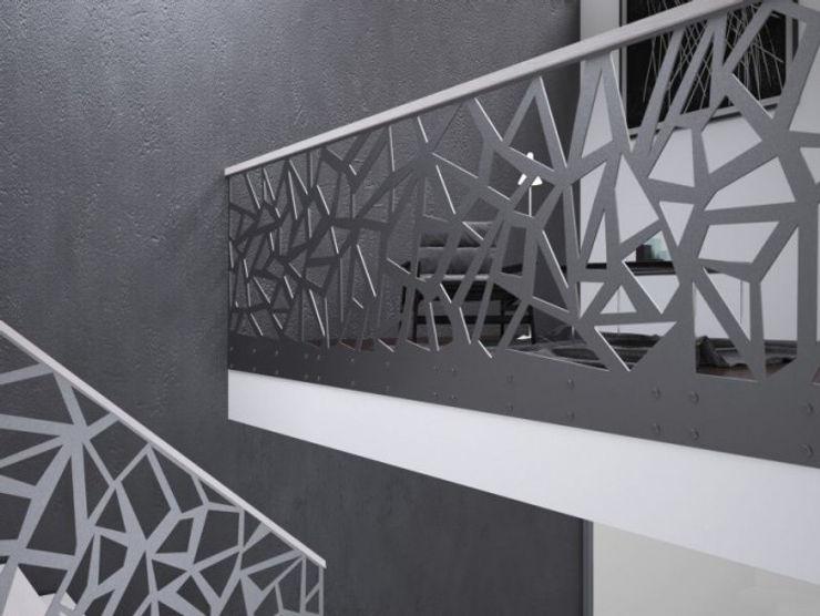 homify Corredores, halls e escadas modernos Ferro/Aço Preto