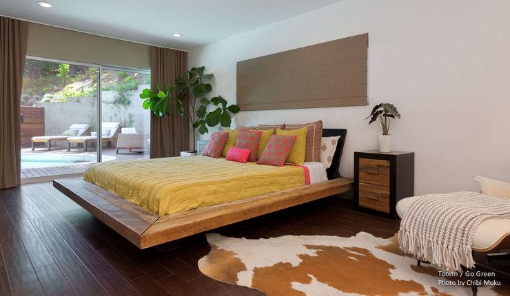 Chibi Moku Architectural Films Modern style bedroom Concrete Brown