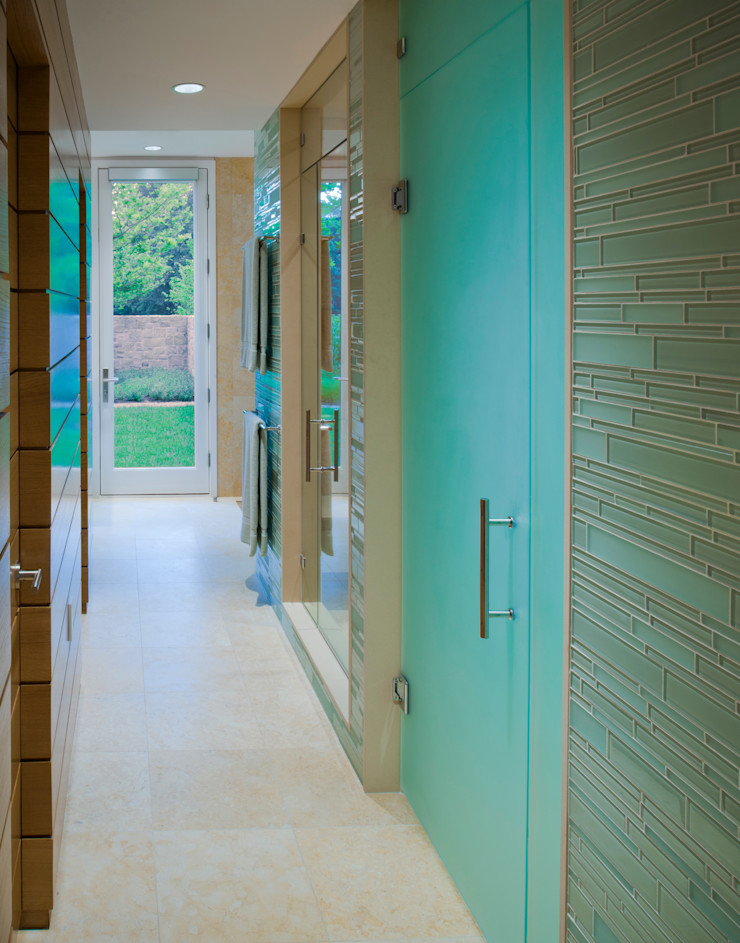 Cunningham | Quill Architects Modern corridor, hallway & stairs