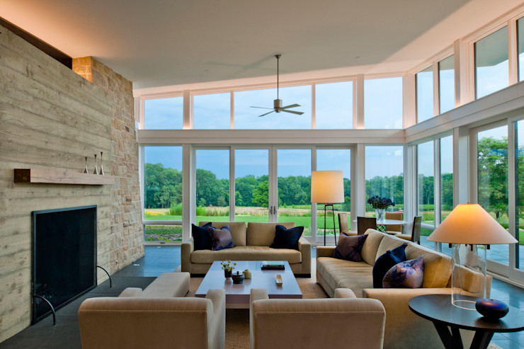 Cunningham | Quill Architects Modern living room
