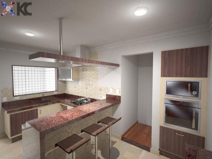 KC ARQUITETURA urbanismo e design Cocinas de estilo clásico