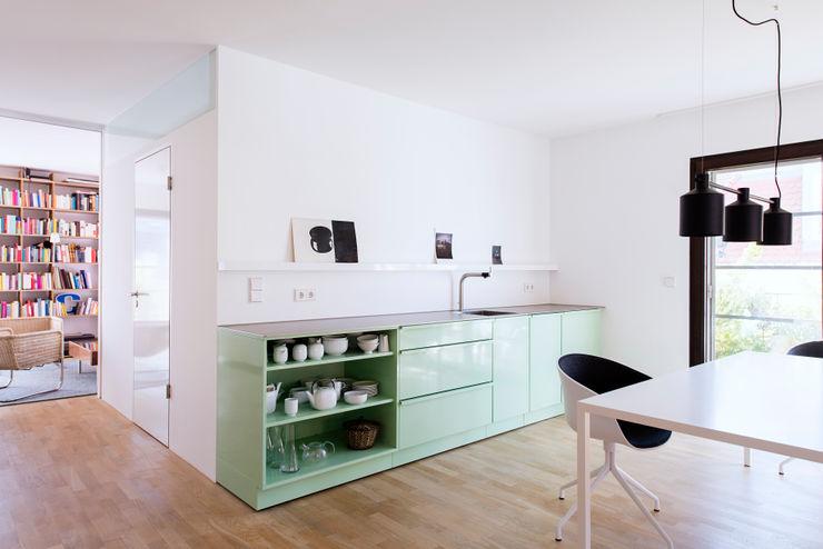 Popstahl Küchen Modern Study Room and Home Office Iron/Steel Green
