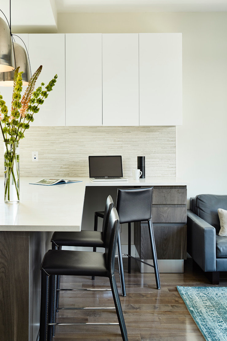 Carroll Street M Monroe Design Modern Study Room and Home Office