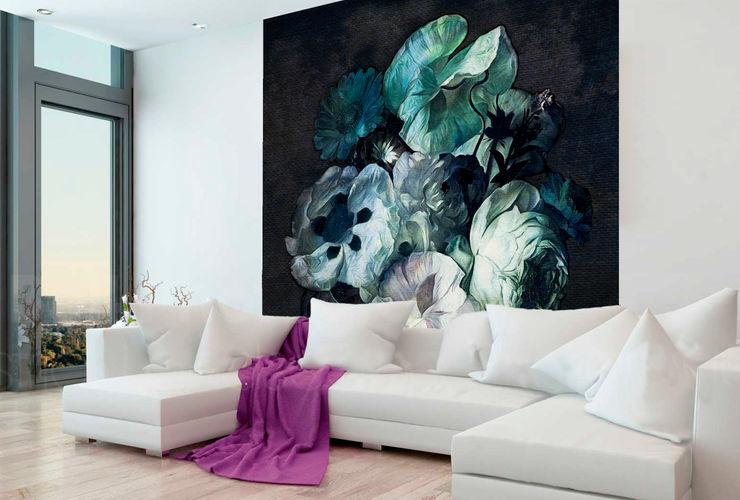 'Fleur' Wallpaper La Aurelia Walls & flooringWallpaper Blue