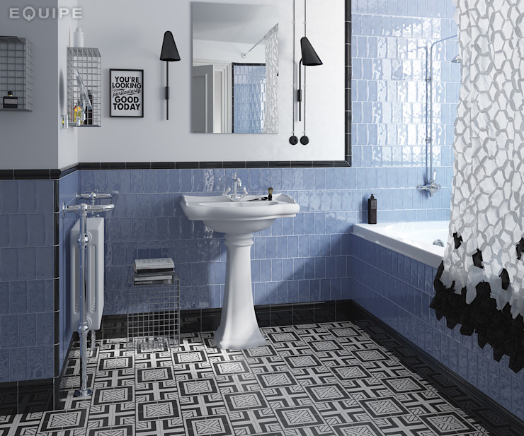 homify Phòng tắm phong cách Địa Trung Hải gốm sứ