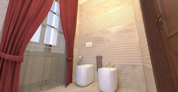 Vista del bagno - View of the bathroom Planet G Bagno moderno Marmo Beige