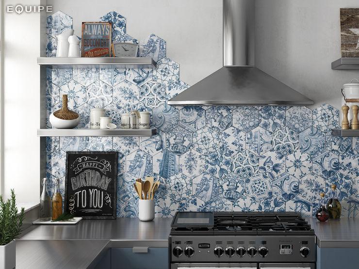 Equipe Ceramicas Rustic style kitchen