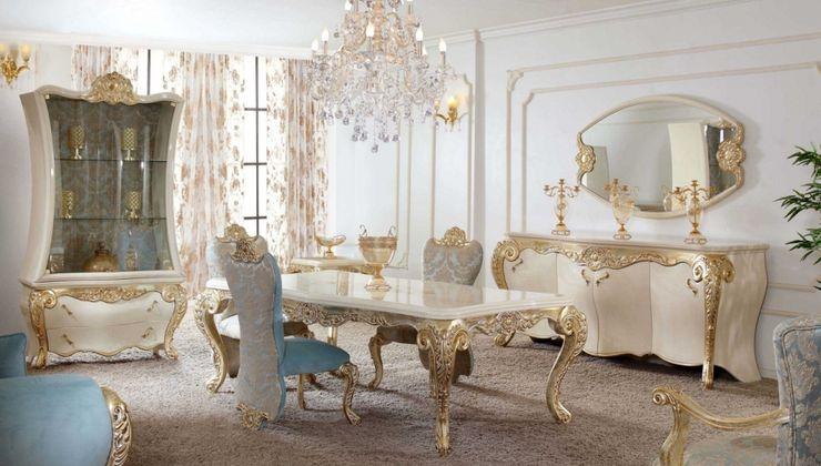 klasik yemek odaları homify Dining room MDF Blue