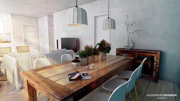 Mediterranean Feeling Studio Frasson Sala da pranzo in stile mediterraneo