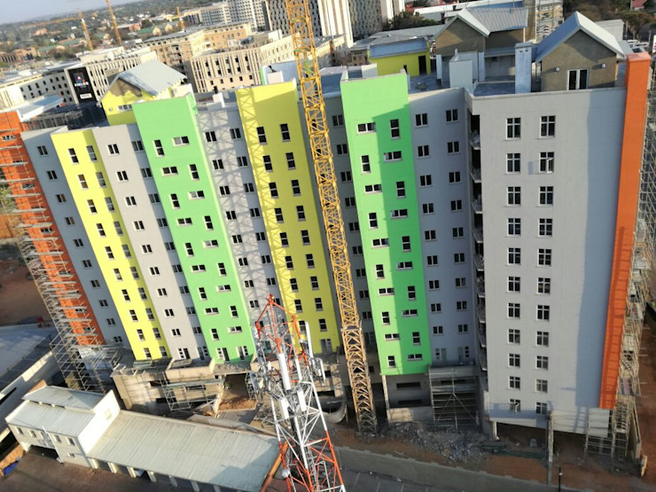 Urban concept architects Rumah Modern Beton Bertulang Multicolored