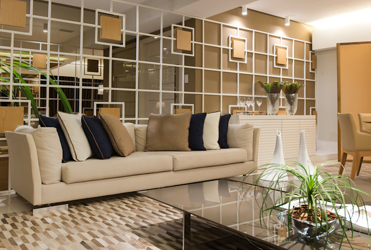 Matheus Menezes Arquiteto Salones de estilo moderno Beige